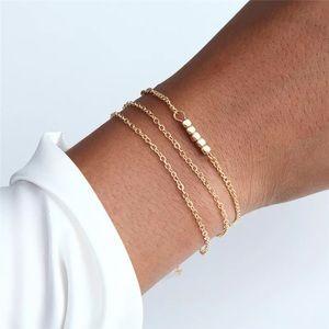 ⚜️[𝟯/$𝟭𝟴]⚜️3 Layered Gold Beaded Bracelet NEW